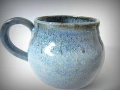 Adorable Little Blue Mug by ZozPots on Etsy
