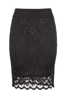 Knee Length Lace Pull on Skirt available at #Maurices