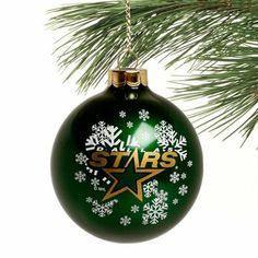 dallas stars traditional snowflake christmas ornament