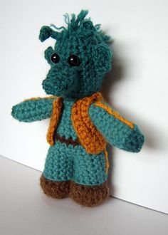 star wars inspired crochet character greedo or von pamcrafteduk
