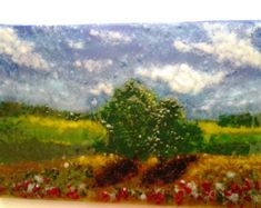 Fused glass wall art Lake in the Fall fused glass by LMoandcompany
