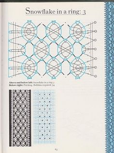 Foto: Bobbin Lace Patterns, Tatting Patterns, Lacemaking, Crochet Books, Needle Lace, String Art, Bead Crafts, Needlework, Hand Weaving