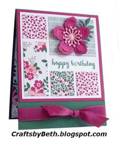 Crafts by Beth: Love Blossoms Happy Birthday…