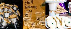 """God' Skolestart - dessertbord med desserter - """"Stolte forældre drik"""" & """"Uundværlige bogstaver"""""""