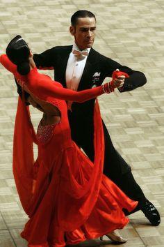 ballroom, beautiful in red