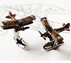 Smithsonian Biplane Cufflinks – $50