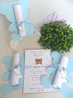 Teddy bear invitation. Baby Shower Gifts For Boys, Baby Shower Decorations For Boys, Boy Baby Shower Themes, Baby Shower Fun, Invitacion Baby Shower Originales, Baby Shower Invitaciones, First Birthday Photography, Teddy Bear Baby Shower, Baby Girl Cards