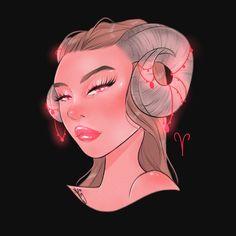 red-hot Aries Aries Art, Aries Astrology, Zodiac Art, Zodiac Signs, Art Inspiration Drawing, Character Inspiration, Drawing Ideas, Anime Zodiac, Drawing Challenge
