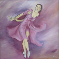 """Oil on canvas """"Ballerina"""" Oil Painting On Canvas, Oil Paintings, Cool Names, Just For Fun, Ballerina, Disney Characters, Fictional Characters, Aurora Sleeping Beauty, Dance"""