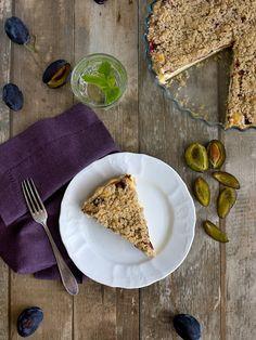 Pradobroty: Linecký koláč plný tvarohu se švestkami / meruňkami a drobenkou Sweet Recipes, Tacos, Mexican, Bread, Chocolate, Cooking, Cake, Ethnic Recipes, Food
