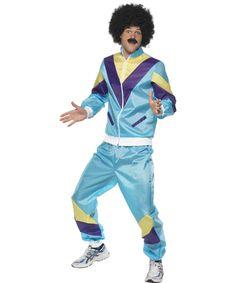 80er Jahre-Kostüm für Erwachsene: Diese 80er Jahre-Kostüm fürErwachsenebesteht aus einem bunten Trainingsanzug aus Nylonmaterial, im Stil der 80er Jahre!Es ist leicht zu tragen, mit einem...