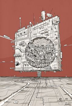 Space cube by Andre Rocha Sacred Architecture, Sketchbook Architecture, Architecture Graphics, Architecture Diagrams, Architecture Portfolio, Andre Rocha, Invisible Cities, Detailed Drawings, Art Design