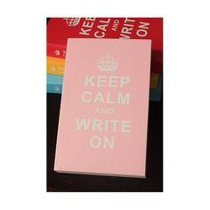 Diario - Keep calm and write on (ROSA)