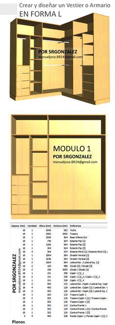 Resultado de imagen para closet modernos julio for Software armarios