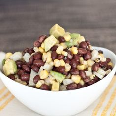 Lime-Cumin Black Bean, Jicama, and Corn Salad - boys ahoy