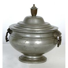 Accessories | Culinary Antiques | Antique Pewter Soup Tureen | www.inessa.com