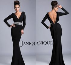 http://www.dhgate.com/product/2014-black-long-sleeve-mother-of-the-bride/184463482.html 2014 Black Long Sleeve Mother Of The Bride Dresses V Neck Backless Janique K6401 Beaded Crystal Mermaid Evening Dresses Ruching Formal Gowns