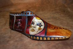 In his case painting embodies the artist's will to interpret the world Recycled Book Crafts, Me Too Shoes, Men's Shoes, Shoe Molding, Creative Shoes, Shoe Horn, Shoe Last, Shoe Tree, Assemblage Art