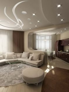 Faux Plafond : Pratique Et Esthétique! False Ceiling DesignIdeas For Living  RoomDesigns ...