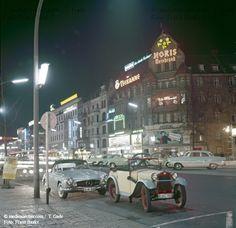 BERLIN 1960, am Kurfürstendamm in Charlottenburg by night