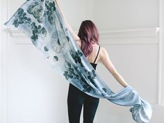 The pattern on this striking scarf is inspired by Galileo's sketches of the moon. #EtsyCanada
