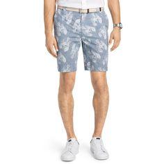 Men's IZOD Schiffli Classic-Fit Flat-Front Shorts, Size: 44, Blue (Navy)