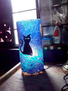 vitro mosaico florero o lámpara para que te gusta $1,000mxp