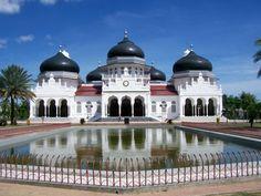 Gambar foto masjid masjid terkenal dan terindah di dunia | Masjid Baiturrahman Aceh Indonesia