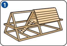 Einen Hühnerstall bauen - Konstruktionszeichnung des Hühnerstalls