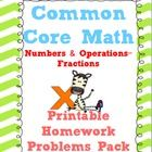 ***THIS PACK INCLUDES ANSWER KEYS*** 5th Grade Common Core Fractions!