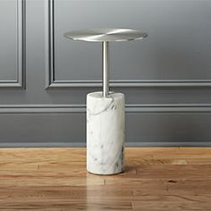 cuff link marble side table $229