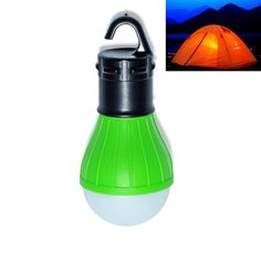Portable outdoor Hanging 3-LED Camping Lantern,Soft Light LED Camp Lights Bulb Lamp For Camping Tent Fishing