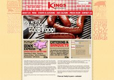 King's Restaurant BBQ, Website Design by #sageisland