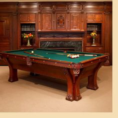 antique pool table