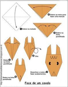 origamis faceis - Pesquisa Google