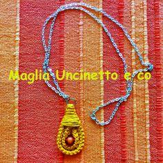 Collana con tecnica della spighetta rumena  #uncinetto #crochet #spighettarumena #collana #necklace