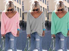 Overige - Sexy V-neck Sweater - Een uniek product van -KnitCat- op DaWanda