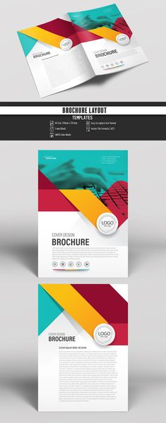 Colorful Business Brochure Cover Layout . Buy this stock template and explore similar templates at Adobe Stock | Adobe Stock. #Brochure #Business #Proposal #Booklet #Flyer #Template #Design #Layout #Cover #Book #Booklet #A4 #Annual #Report| Brochure template | Brochure design template | Flyers | Template | Brochures | Flyer Background | Background design | Business Proposal | Proposal Design | Booklet | Professional | Professional - Proposal - Brochure - Template