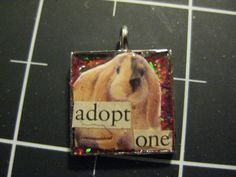 Lop Rabbit Adopt One Pendant Cute Bunny Adoption by scrappyrat, $6.00
