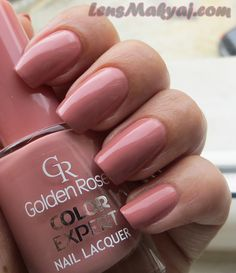 Golden Rose Color Expert 09 in 2020 Golden Rose Nail Polish, Rose Nails, Manicure Y Pedicure, Dream Nails, Stylish Nails, Perfect Nails, Nail Polish Colors, Nail Arts, Or Rose