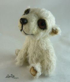 Edward the Polar Bear Mohair Artist Bear by by EmmaHallTextiles