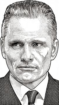 Vigo Mortensen as Nikolai Luzhin by Randy Glass, Wall Street Journal Hedcuts Cool Art Drawings, Pencil Art Drawings, Cool Artwork, Portrait Sketches, Portrait Illustration, Stippling Art, Famous Artwork, Circle Art, Art Story