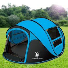 Outdoor Camping Hiking Large Instant Pop Up Tent - Double Doors Two Windows Camping Hacks With Kids, Best Tents For Camping, Tent Camping, Camping Gear, Outdoor Camping, Outdoor Gear, Camping Tricks, Camping Style, Camping Places