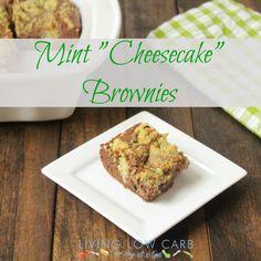 "Mint ""Cheesecake"" Brownies"