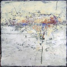 "Judy Wise  - cold wax and dry pigments 8x8"" 2011 encaustics"