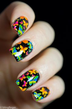 Butterfly Nail Wrap  - study at the UK's leading beauty school now at http://bit.ly/nailsuk
