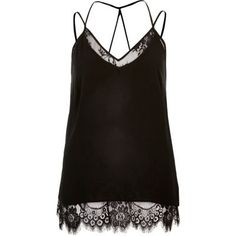 I'm shopping Black lace cami in the River Island iPhone app.