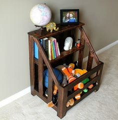 bookcase toybox diy by turtles&tails, via Flickr