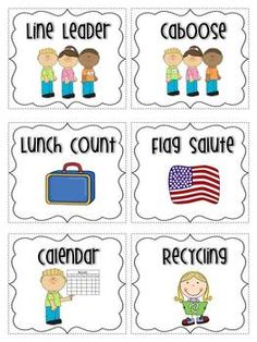 Love this class jobs freebie! Kindergarten Job Chart, Kindergarten Classroom Jobs, Preschool Jobs, Free Preschool, Preschool Learning, Preschool Helper Chart, Classroom Helper Chart, Classroom Jobs Free, Classroom Decor