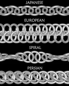 Free Chainmail Patterns Chain Maille in 1 chain this is the 2 in 1 chain also called 1 on 1 it is the . - Maille Artisans International League - chain mail all over the worldThinking about a chain maille class in context of weaver Tony Bible's upcoming ex Wire Wrapped Jewelry, Metal Jewelry, Beaded Jewelry, Handmade Jewelry, Silver Jewelry, Silver Earrings, Jewelry Box, Jewelry Accessories, Stud Earrings